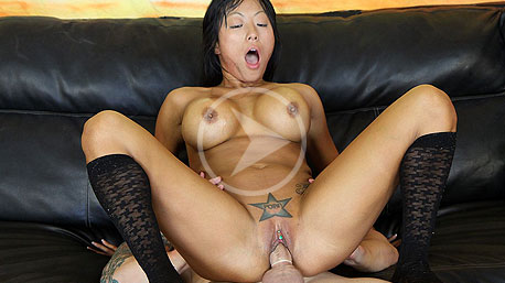 Gaia Rides a Massive Cock Deep In Her Pussy